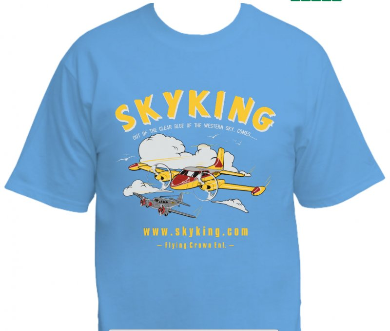 Image 0 of Sky King T-shirt Cessna 310 Lg Carolina Blue
