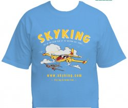 Sky King T-shirt Cessna 310 Lg Carolina Blue