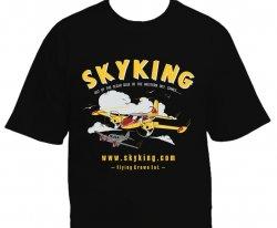 Sky King Tee Black XXX-Lg