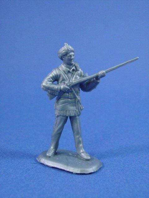 Marx 45mm Alamo Playset Davy Crockett Character Figure Cast in Silver