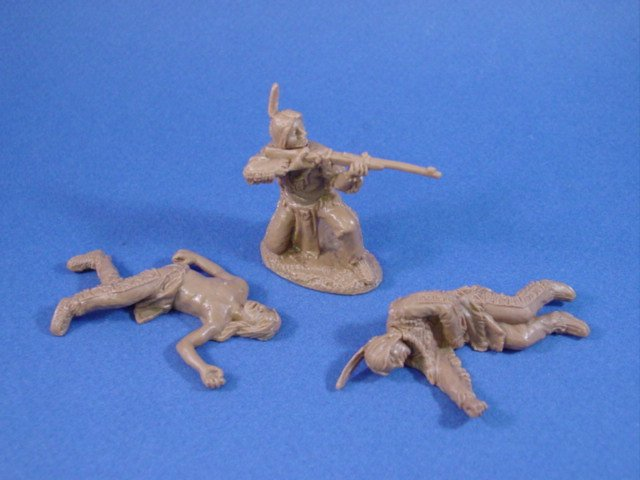 Battle of the Little Big Horn 54mm Indian Warriors 6 Piece Casualty Set