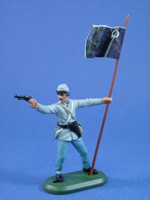 Britains Deetail Confederate Toy Soldiers Quantrill's Raiders Flag Bearer