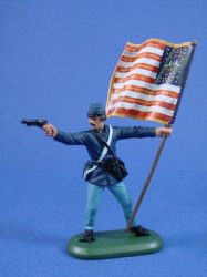 Confederate Color Bearer North Carolina ACW18602 History Works Toy Soldier