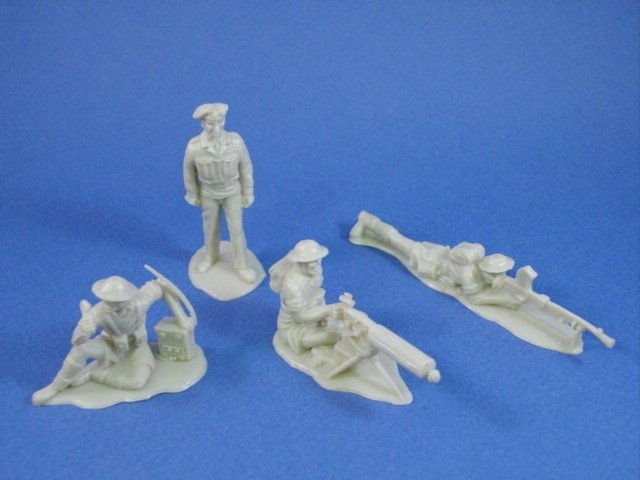 Timpo Toy Soldiers 54mm WWII British 8th Army Infantry 11 Piece Set with Monty