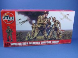 Thumbnail of Airfix 1:32 Toy Soldiers WWII British Infantry Support Group Set 4710