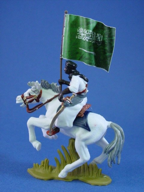 Britains Deetail DSG Toy Soldiers Mounted Arab Warrior with Battle Flag #4