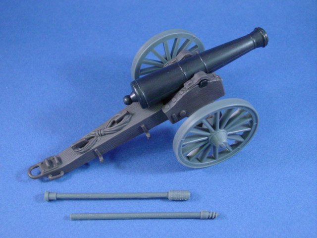 NOW IN STOCK! Add this classic Marx reproduction Confederate caisson set to your order today. Supplies are limited. Union caisson set also available.