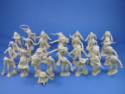 Thumbnail of Marx 54mm Mineral City Playset 54mm Miners, Trappers and Cowboys 32 Figures Tan