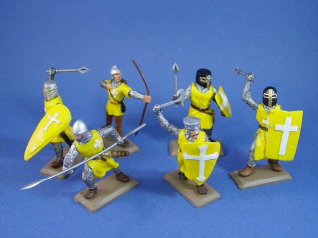 Britains Deetail DSG English Knights in Yellow Tunics 6 Piece Set