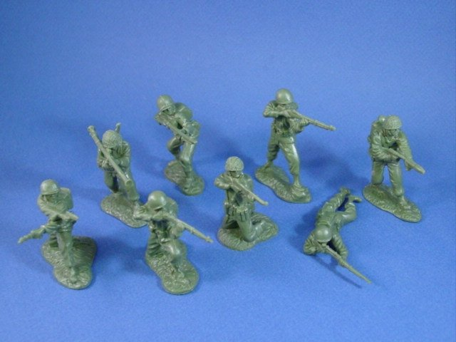 CTS 54mm US Army Infantry 16 piece set in 8 highly detailed poses. Each set includes 2 of each pose.