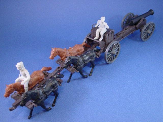 Marx Playset CTS Caisson Set 4-piece Horse Team