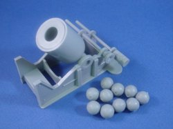 Thumbnail of Marx 54mm Battle of the Blue & Gray Playset - Large Mortar with Ammunition