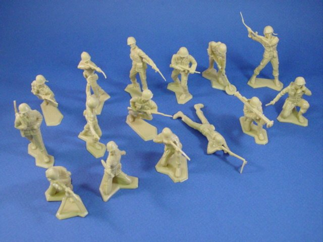 Marx Desert Fox Playset WWII US Army 24 Figures in Tan