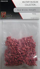 Pegasus Toy Soldiers Multi-Scale Small Red Bricks Bagged Set