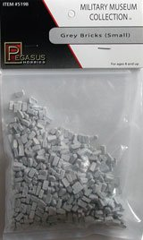 Pegasus Toy Soldiers Multi-Scale Small Gray Bricks Bagged Set