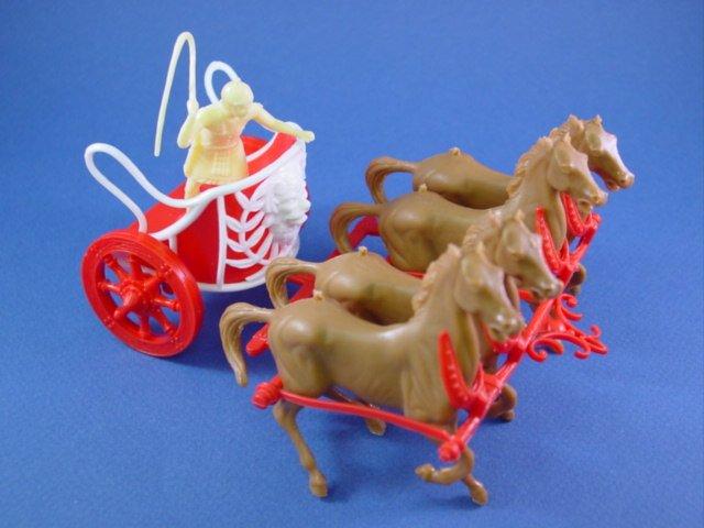 Marx Ben Hur Playset CTS Roman Chariot with Driver Set 1