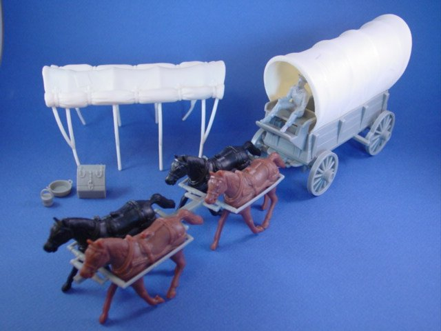 Marx Covered Wagon in Gray