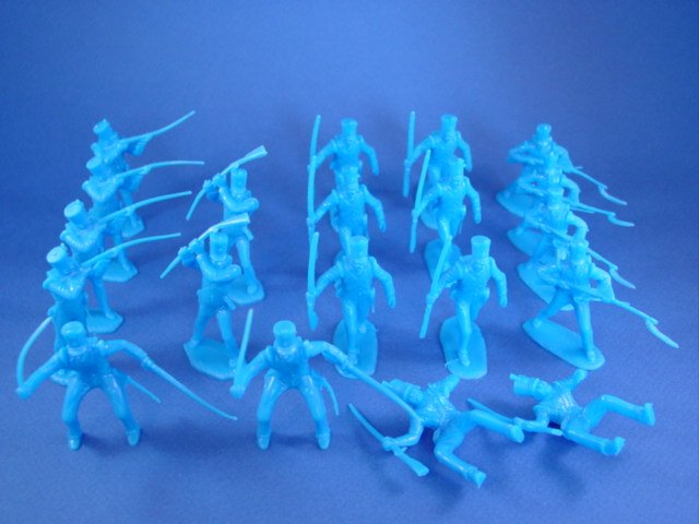 Marx Alamo Playset CTS Mexican Toy Soldiers 20 Figures in 6 Poses