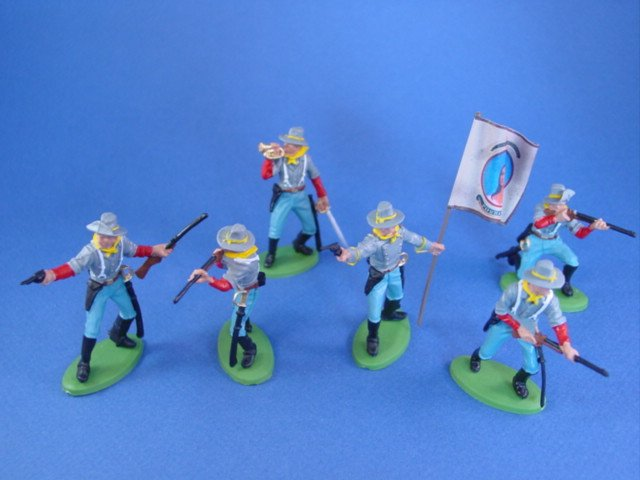 Britains Deetail DSG Civil War Confederate Toy Soldiers 4th VA Powhatan Guards