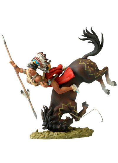 Falling Sioux Warrior on Horseback BH-0121