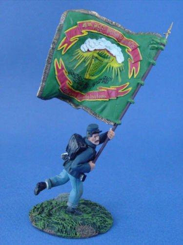 W Britain Toy Soldiers Civil War Union Irish Brigade Flagbearer 31093