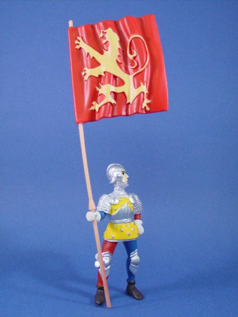 Safari Toy Soldiers Knight with King Richard Flag