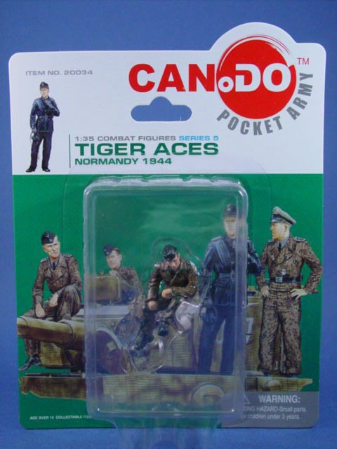Toy Soldier Dragon CanDo 1/35 Scale Painted WWII German Tiger Aces Hans  Figure A