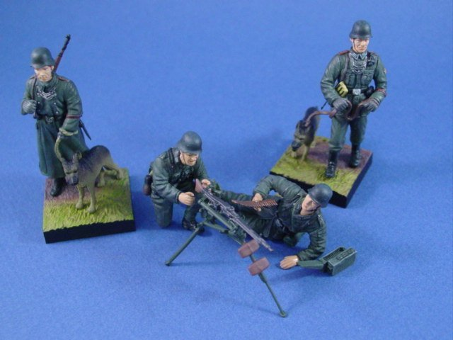 Battlefield Legends Toy Soldiers Store Painted German MG Team Set