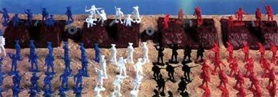 Plastic Toy Soldiers 101 Piece Yorktown Playset 1/32 Revolutionary War BMC