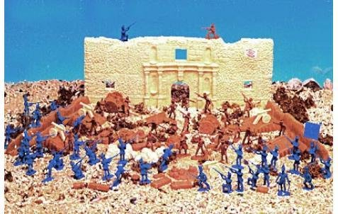 Plastic Toy Soldiers 101 Piece Battle of the Alamo Playset 1/32 Scale BMC