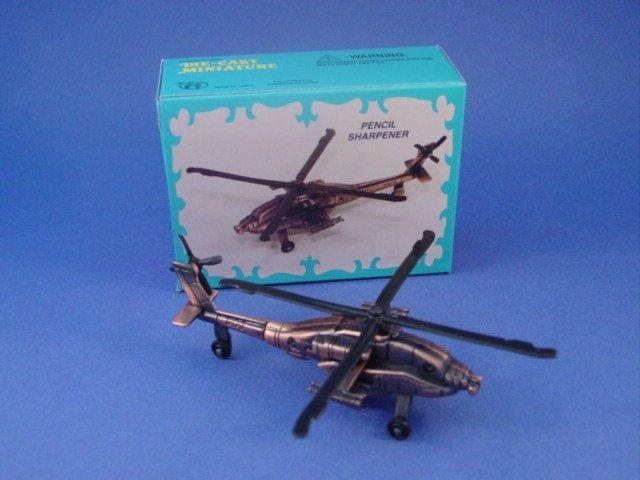 Toy Soldiers Apache Helicopter Modern War Diecast Metal Pencil Sharpener
