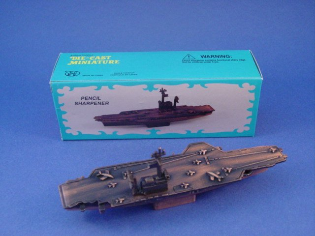 Toy Soldiers US Aircraft Carrier Diecast Metal Pencil Sharpener Wargamer
