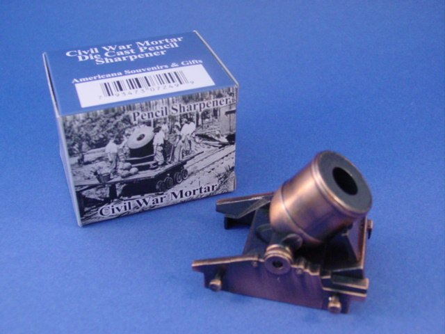 Civil War Toy Soldiers Mortar Diecast Metal Pencil Sharpener 1/32 Scale
