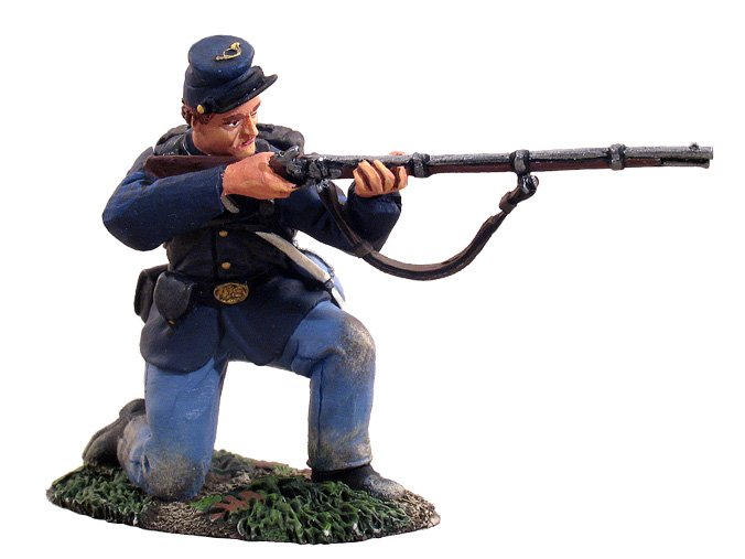 Civil War Toy Soldiers W Britain Union Kneeling Firing No. 1 1/32 Scale 31024