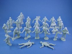 Thumbnail of Marx Untouchables Playset Reissue Figures in Gray Set of 25