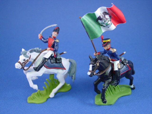Britains Deetail DSG Toy Soldiers Alamo Command Set with Flag Bearer