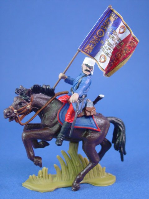 Britains Deetail DSG Toy Soldiers 1914 French Foreign Legion Flag Bearer