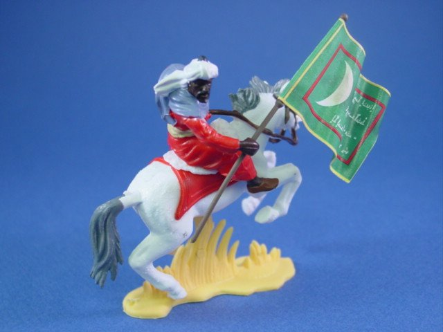 Britains Deetail DSG Toy Soldiers Mounted Arab Warrior with Battle Flag