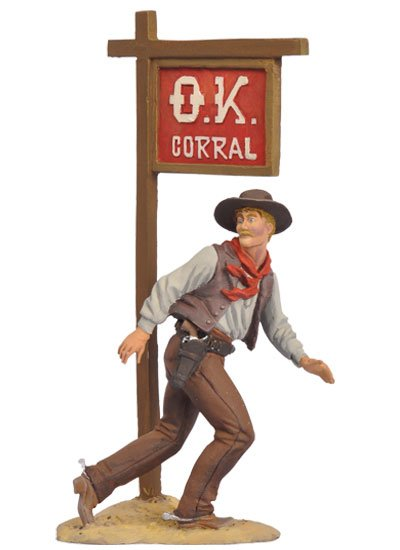 Black Hawk Tombstone OK Corral Ike Clanton 1/32 Metal Figure in Box BH0308