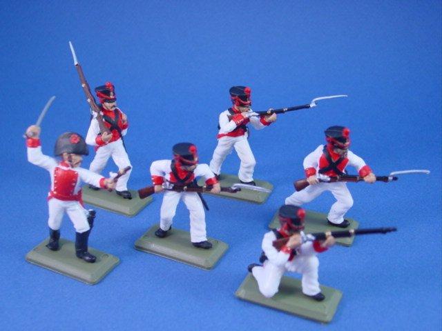 Britains Deetail DSG Toy Soldiers Alamo Mexican Guerrero's Battalion