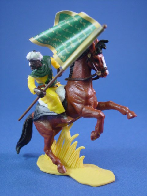 Britains Deetail DSG Toy Soldiers Mounted Arab Warrior with Battle Flag #2