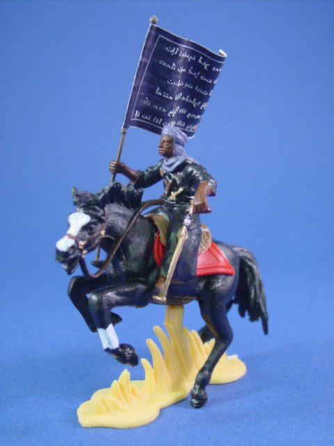 Britains Deetail DSG Toy Soldiers Mounted Arab Warrior with Battle Flag #3