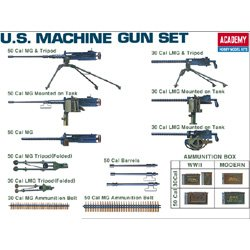 Plastic Model Kit 1/35 Scale WWII US Machine Gun Set Academy 1384