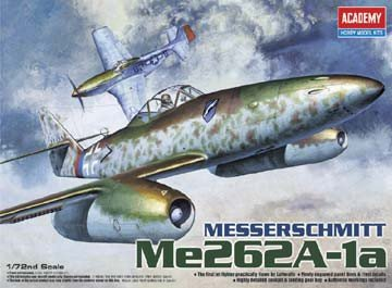 Plastic Model Kit 1/72 Me262A1a Luftwaffe Jet Fighter