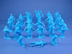 Thumbnail of Marx Untouchables Playset Reissue Figures in Blue Set of 25