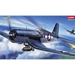 Plastic Model Kit 1/72 F4U1 Corsair Fighter Academy 12457