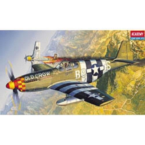 Plastic Model Kit 1/72 P51B Mustang Fighter Academy 12464