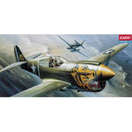 Plastic Model Kit 1/72 P40E Warhawk Fighter Academy 12468
