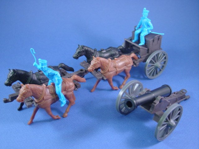 CTS MARX Alamo Playset Toy Soldiers Mexican Caisson Set - Includes 24 Pounder detachable cannon with accessories!