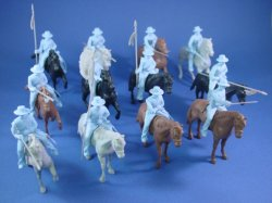 Thumbnail of CTS Alamo Playset Mexican Round Hat Cavalry Set of 12 in Powder Blue